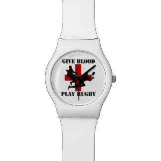 Give Blood Play Rugby Watch