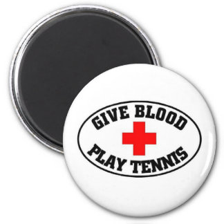 give blood play tennis fridge magnets