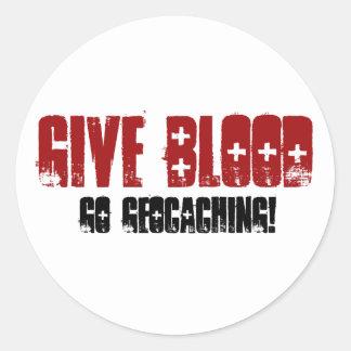 Give Blood Round Sticker