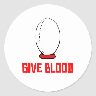 Give Blood (Rugby) Sticker