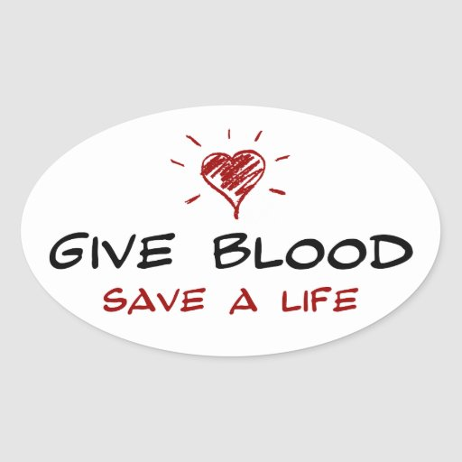 Give Blood Save A Life Sticker