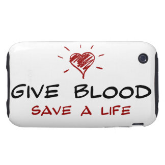Give Blood Save A Life Tough iPhone 3 Case