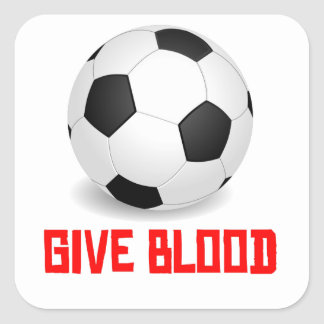 Give Blood Soccer Stickers
