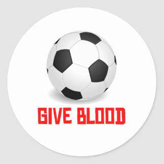 Give Blood (Soccer) Round Stickers