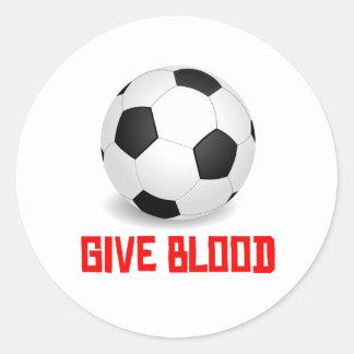 Give Blood (Soccer) Round Sticker