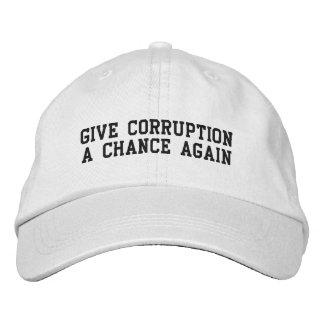 Give Corruption A Chance Again Baseball Cap