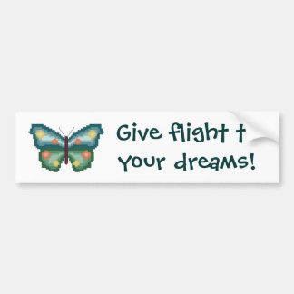Give flight to your dreams!  Bumper Sticker Car Bumper Sticker