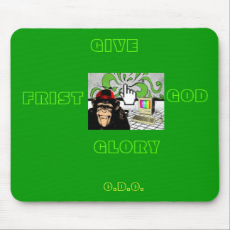 GIVE GOD THE GLORY MOUSE PAD- RETRO STYLE MOUSE MAT