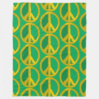 Give Green Peace A Chance Fleece Blanket
