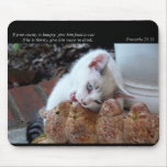 Give Him Food to Eat (Cat) Mousepad
