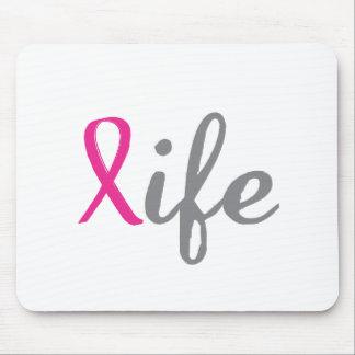 Give life - Pink ribbon Mousepads