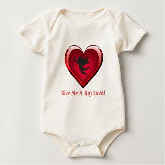 Give Me A Big Love Cupid Onsie Baby Bodysuits
