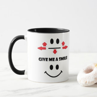 Give me a smile coffee mug