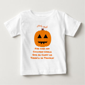 Give me Candy! Cheeky Witch Baby T Shirt