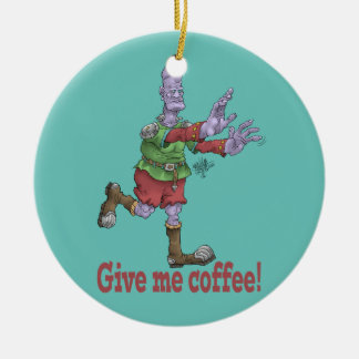 Give me coffee! Round ceramic decoration. Round Ceramic Decoration