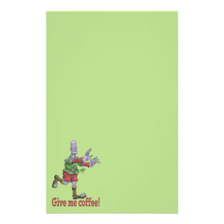 Give me coffee! stationery paper.