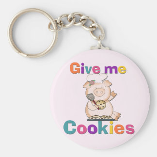 Give Me Cookies Tshirts and Gifts Basic Round Button Key Ring