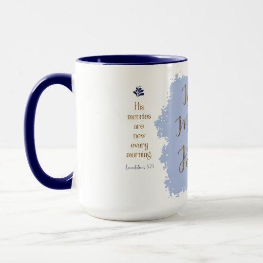 """Give Me Jesus"" 15 oz Combo Mug (Navy/Blue)"
