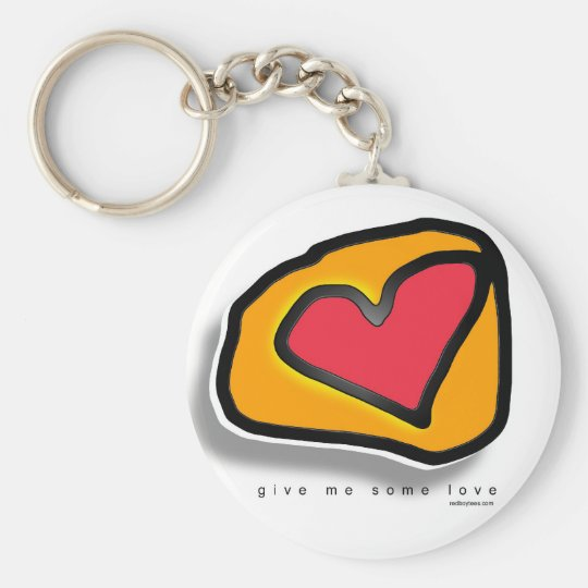 Give me some Love Basic Round Button Key Ring