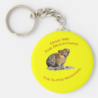Give Me The Mountains...Pika Key Chains
