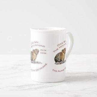 Give Me The Mountains Pika Porcelain Mugs