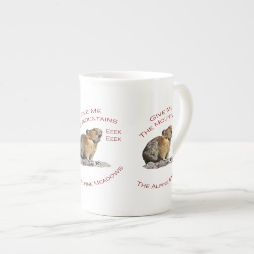 Give Me The Mountains...Pika Porcelain Mugs