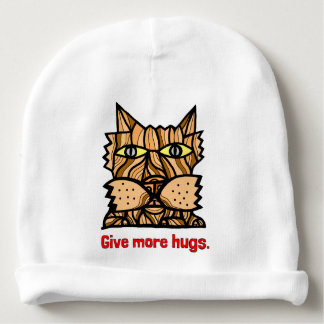 """""""Give More Hugs"""" Baby Cotton Beanie Baby Beanie"""