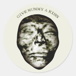 Give Mummy A Kiss Round Sticker