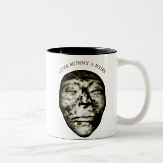 Give Mummy A Kiss Two-Tone Coffee Mug