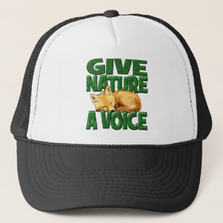 GIVE NATURE A VOICE- Fox Cub Trucker Hat