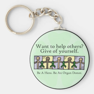 Give of Yourself Basic Round Button Key Ring