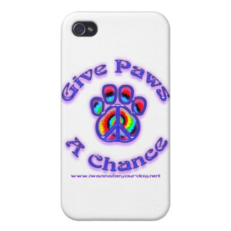 Give Paws a Chance 3.0 Covers For iPhone 4