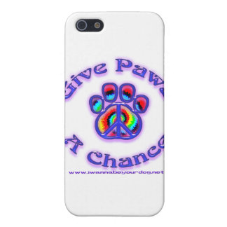 Give Paws a Chance 3.0 iPhone 5 Covers