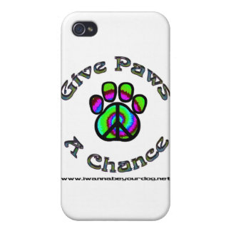 Give Paws A Chance green peace iPhone 4/4S Covers