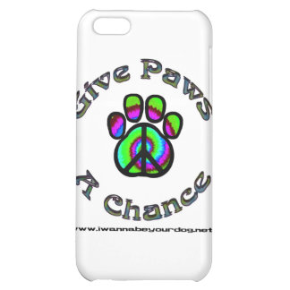 Give Paws A Chance green peace Case For iPhone 5C