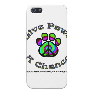 Give Paws A Chance green peace iPhone 5 Cover