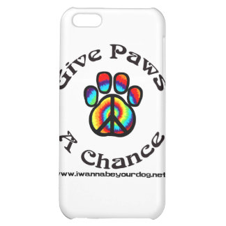 Give Paws a Chance Peace Symbol iPhone 5C Cover