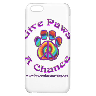 Give Paws A Chance purple peace iPhone 5C Covers