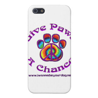 Give Paws A Chance purple peace Cover For iPhone 5