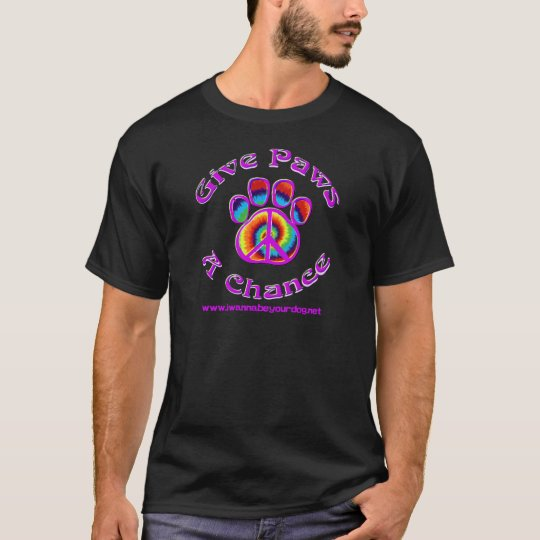 Give Paws a Chance Purple T-Shirt