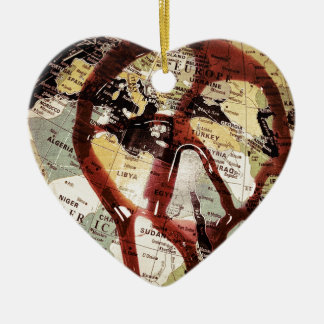 Give Peace a Chance Ceramic Heart Decoration