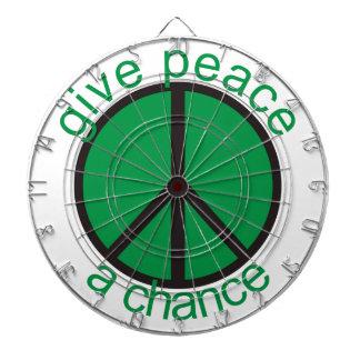 Give peace a chance dart board