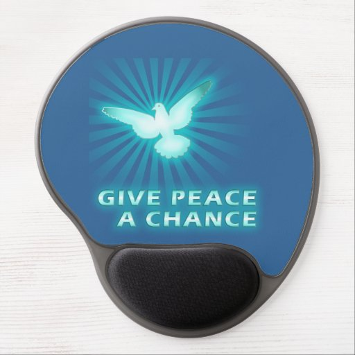 Give Peace a Chance Gel Mouse Mats