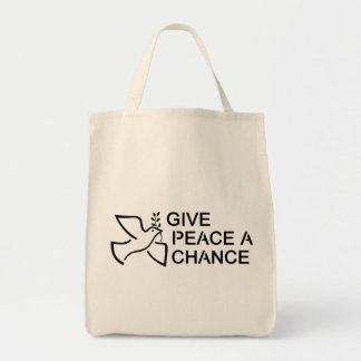 Give Peace a Chance Grocery Tote Bag