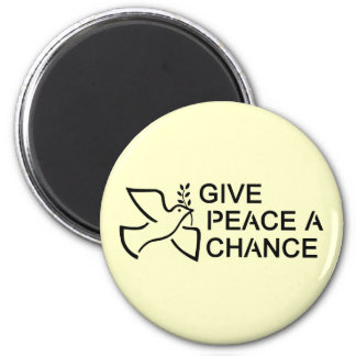 Give Peace a Chance Refrigerator Magnets