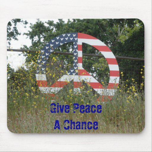 Give Peace a Chance Mouse Mats