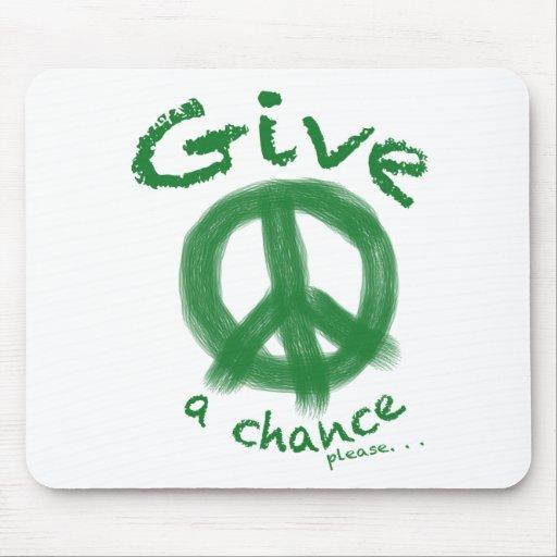 Give Peace a Chance Mousepads