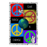 Give Peace a Chance Pop Art Poster