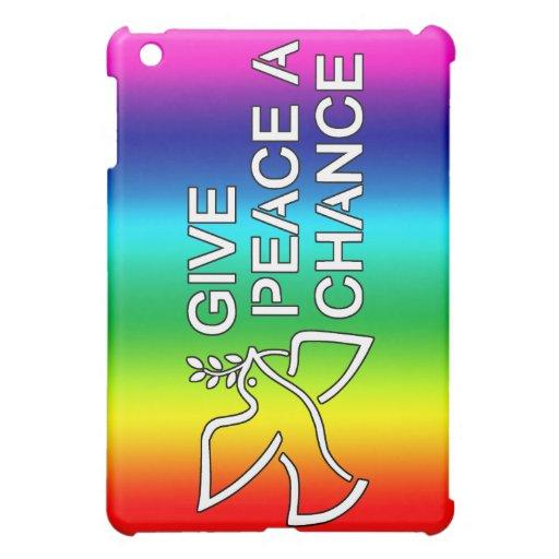 Give Peace a Chance (Rainbow) iPad Mini Cover