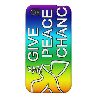 Give Peace a Chance (Rainbow)  Cover For iPhone 4